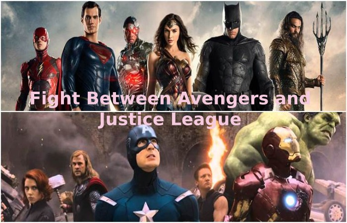 Fight Between Avengers and Justice League