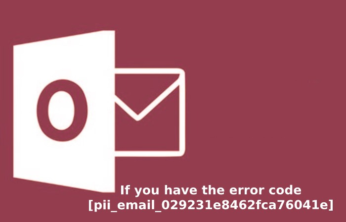 If you have the error code [pii_email_029231e8462fca76041e]