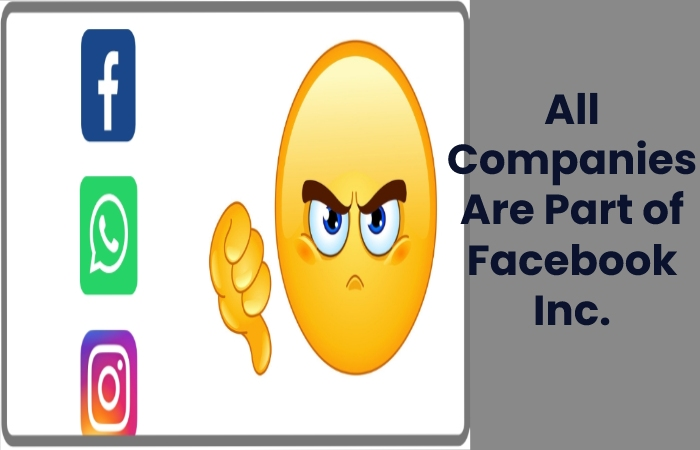 All Companies Are Part of Facebook Inc.